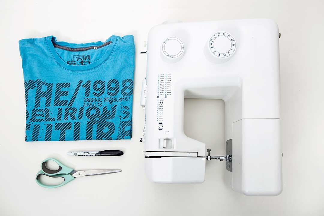 Uszyj torbę shopperkę zestarego t-shirta