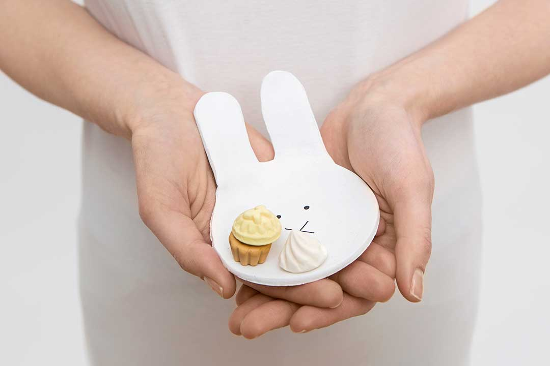 Zrób miseczkę wkształcie króliczka zgliny samoutwardzalnej