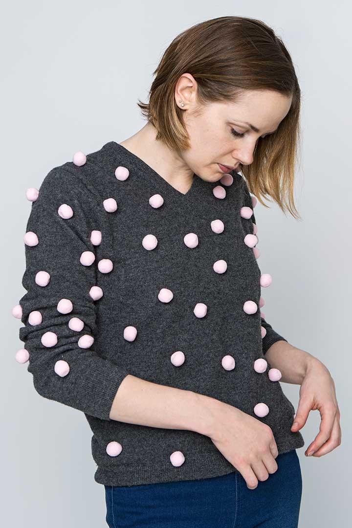 Ozdób sweter bąbelkami