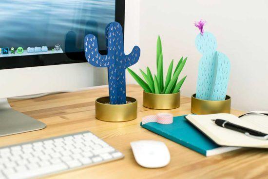 Zrób ozdobę na biurko w kształcie kaktusów