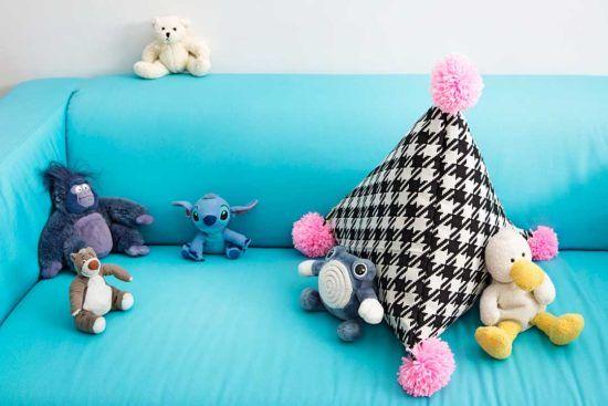 Uszyj poduszkę w kształcie stożka