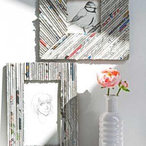 Żyj pięknie - Zrób ramkę z gazetowej wikliny
