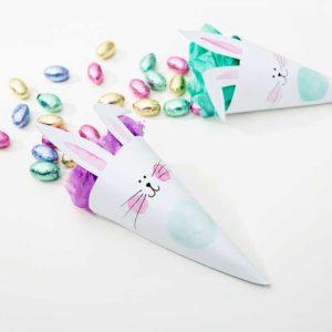 Żyj pięknie - Przygotuj rożki na słodkości od wielkanocnego króliczka