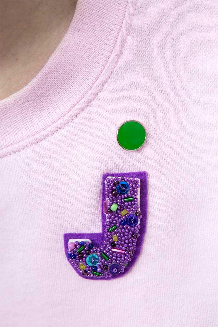 Żyj pięknie - Zrób broszkę monogram
