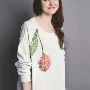 Żyj pięknie - Ozdób bluzę nadrukiem krzyżykowym