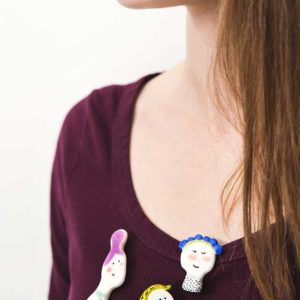 Żyj pięknie - Zrób z modeliny dziewczyńskie broszki