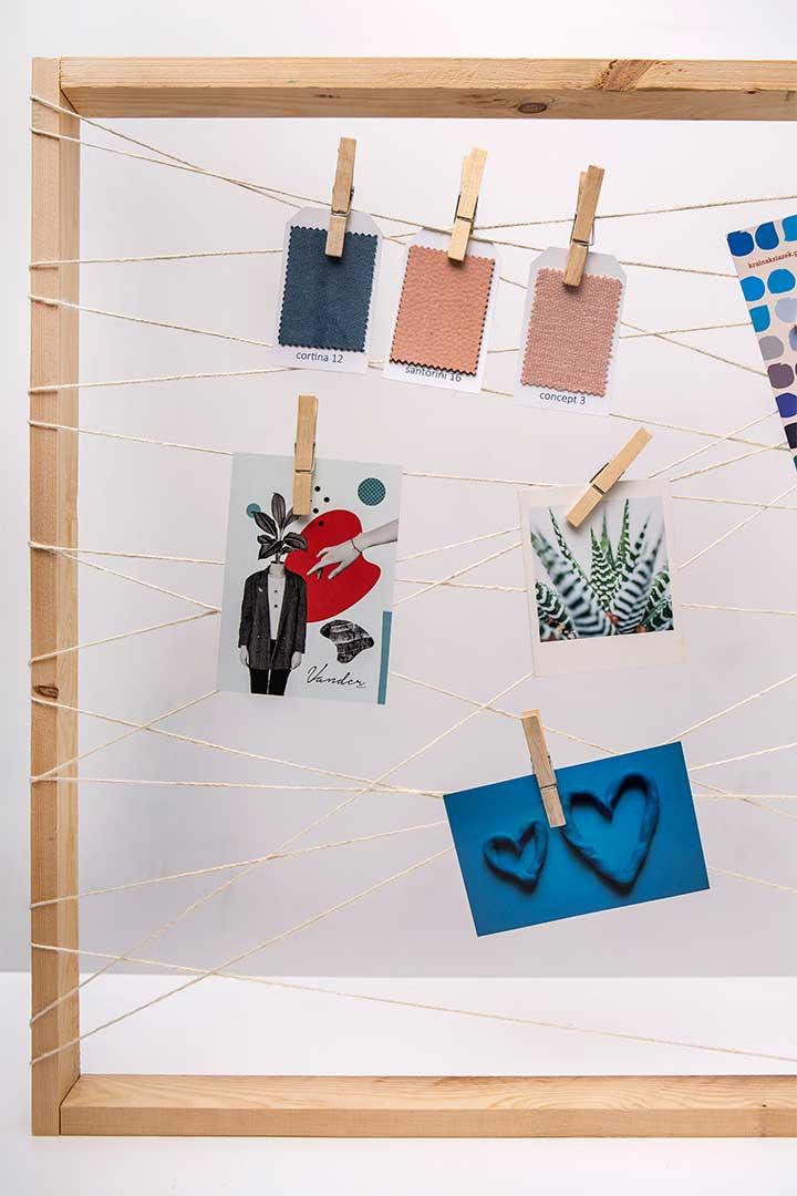 Żyj pięknie - Zrób organizer na ścianę ze starej ramy