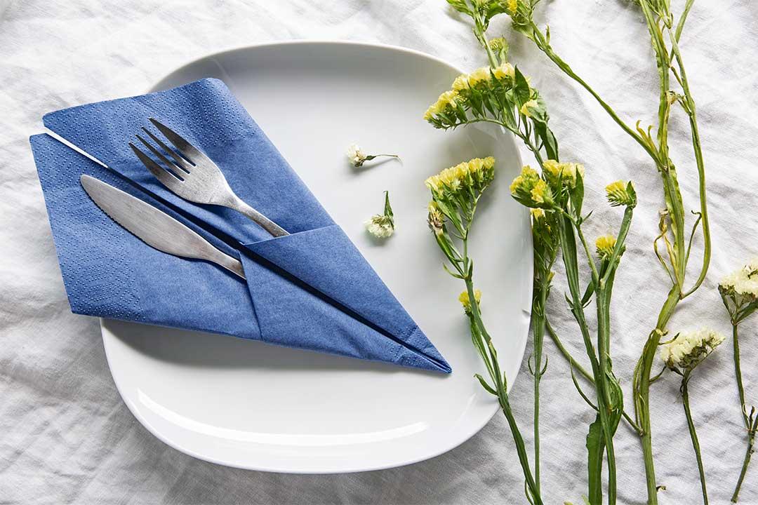 Żyj pięknie - Kieszonka nasztućce zpapierowej serwetki
