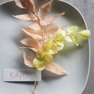 Żyj pięknie - Roślinne dekoracje z krepiny