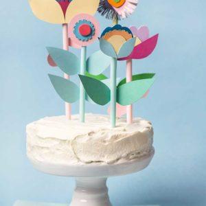 Żyj pięknie - Toppery na tort ze słomek do napojów
