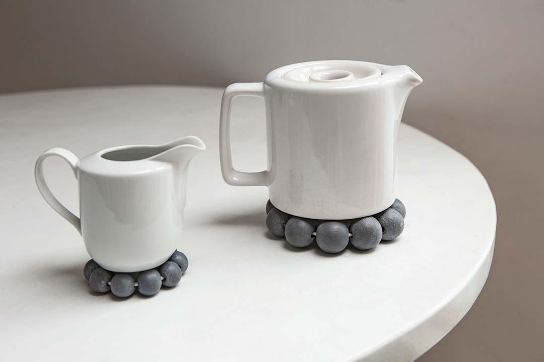 Żyj pięknie - Podstawki zdrewnianych kulek podgorące naczynia