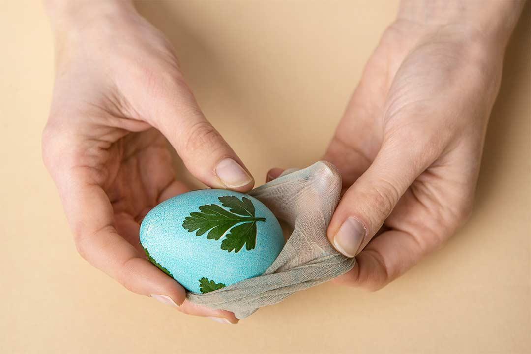 Żyj pięknie - Roślinne motywy nawielkanocnych jajkach
