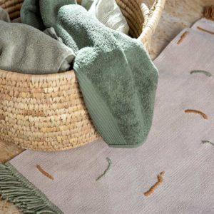 Żyj pięknie - Wyszywany dywanik łazienkowy
