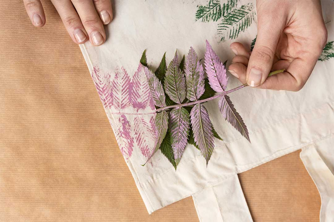 Żyj pięknie - Szoperka wewzór liści