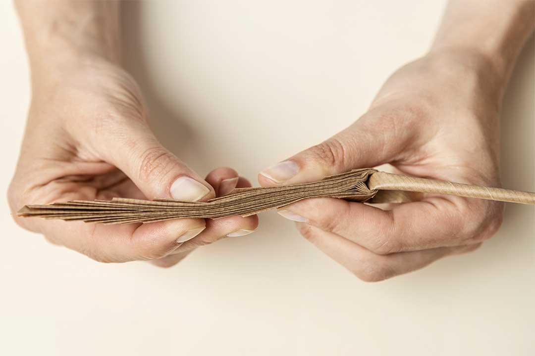 Żyj pięknie - Liść palmowy zpapieru pakowego