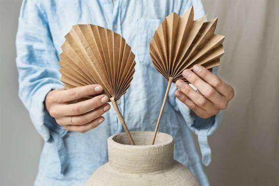 Żyj pięknie - Liść palmowy z papieru pakowego